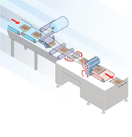 Máquina de envasado tipo almohadilla horizontal / vertical